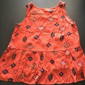 Mossimo Supply Co. Tops - 🍁Mossimo Orange South Western Patterned Top